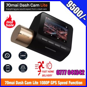 "70mai Dash Cam Lite, Smart Car Camera 1080p, WiFi Dash Camera for Cars Sony IMX307, 2"" LCD Screen, Parking Monitor, G-Sensor, Super Night Vision, Loop Recording, iOS/Android Mobile App WiFi"