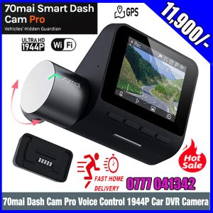 70mai Dash Cam Pro, 1944P FHD Rotatable WDR 140° Wide Angle Dashboard Camera Recorder with Voice Control/G-Sensor Parking Mode/Auto Emergency Recording/Night Vision/DVR Driving Recording