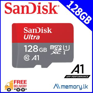 SanDisk 128GB Ultra microSDXC UHS-I Memory Card with Adapter - 100MB/s, C10, U1, Full HD, A1, Micro SD Card